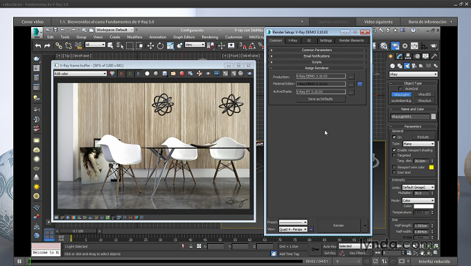 [Post Nº100] Fundamentos de V-Ray 3.0 (info de curso)