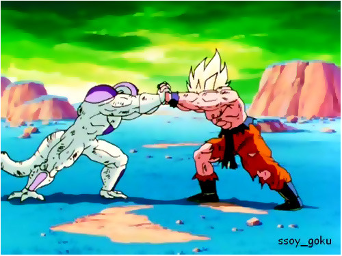 Goku vs Freezer, mano a mano. (video inedito)