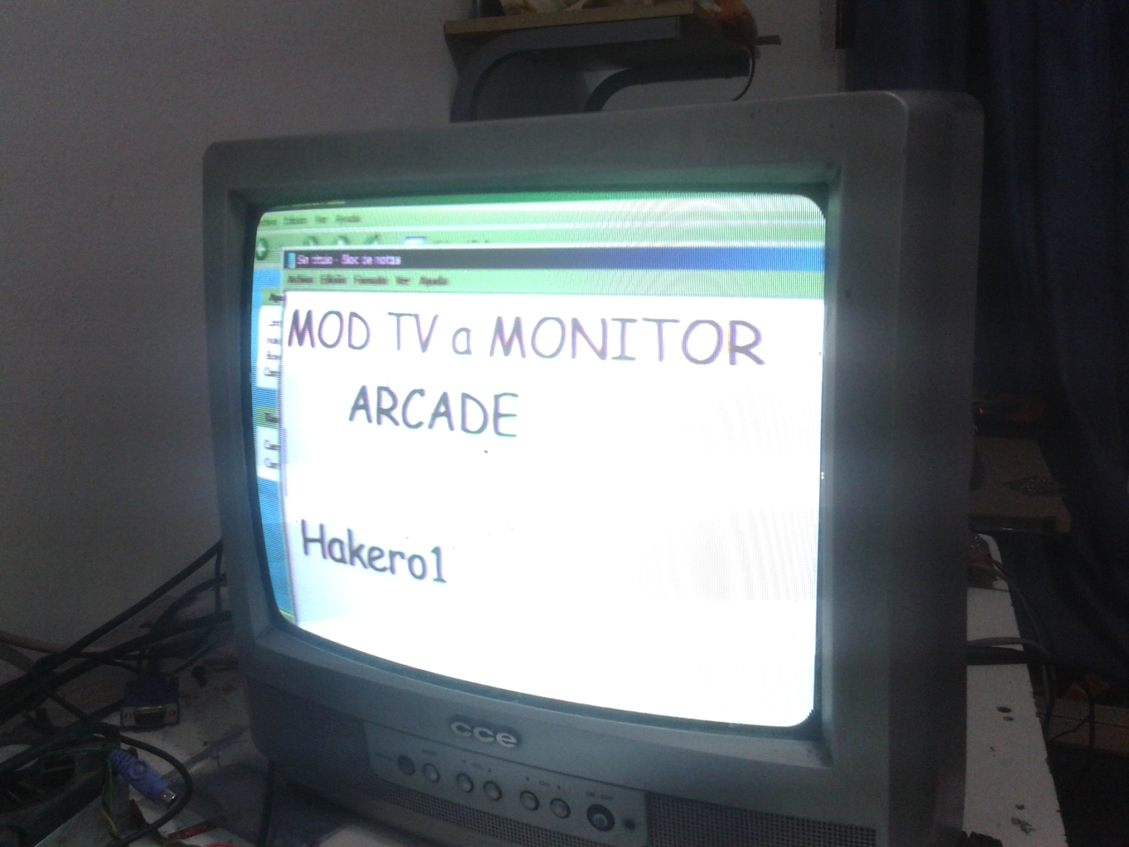 Hack TV a Monitor Arcade (Tv Modding)