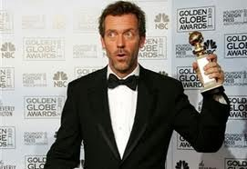 Dr.House Hugh Laurie Globo de oro 2006-07 FOTOS
